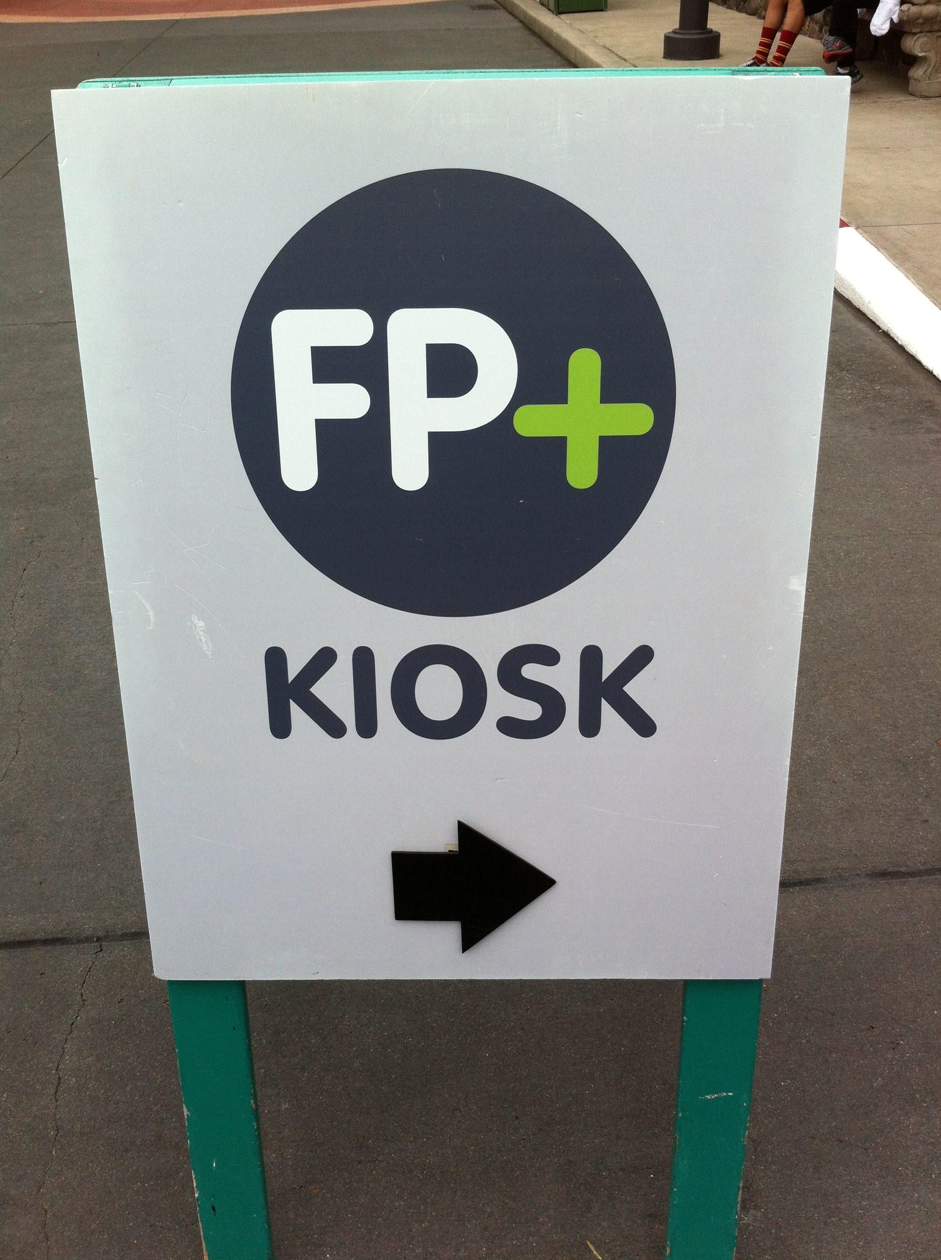 FastPass+ sign