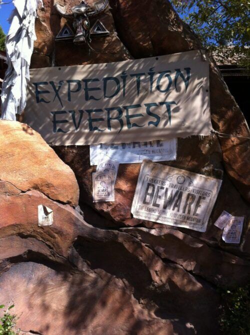 expedition everest sign